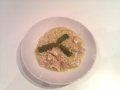 Risotto with asparagus and ricciola