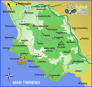 map of Cilento
